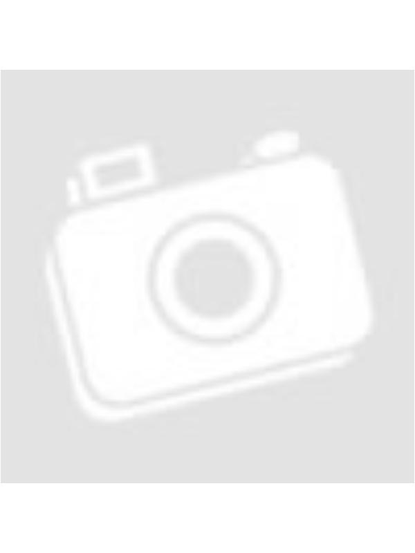 Női ekrü A vonalú ruha hosszú fodros ujjal nagy szemes mintával - Moe - 135524